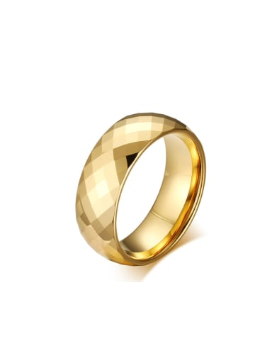 Tungsten With Gold Plated Simplistic Geometric Band Rings