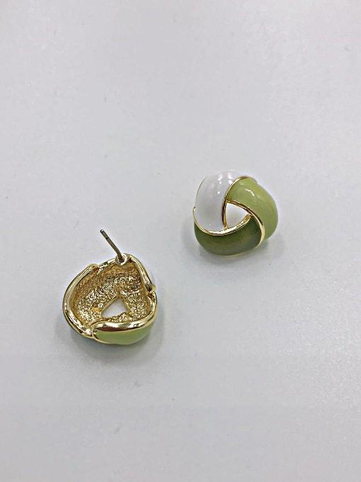 VIENNOIS Zinc Alloy Enamel Geometric Minimalist Stud Earring 0