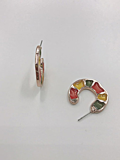 VIENNOIS Zinc Alloy Enamel Irregular Trend Stud Earring 0