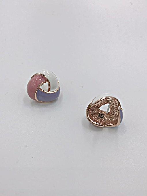 VIENNOIS Zinc Alloy Enamel Geometric Minimalist Stud Earring 1