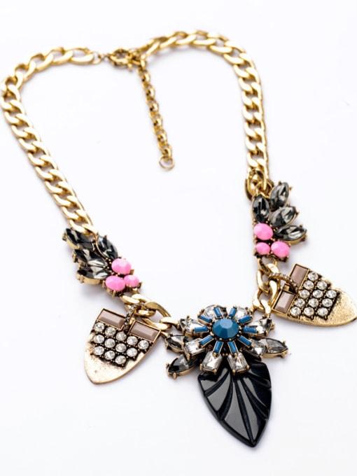 KM Leave-shape Pendant Women Necklace 1