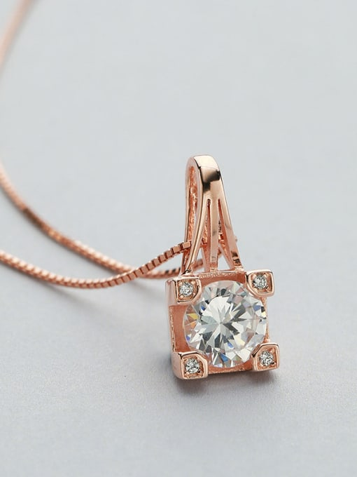 One Silver Rose Gold Plated Geometric Shaped Pendant 1