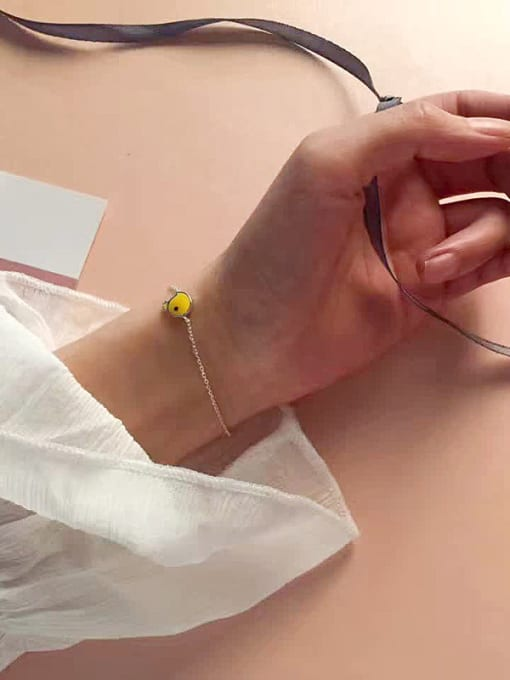 Peng Yuan Simple Yellow Chick Opening Bracelet 1