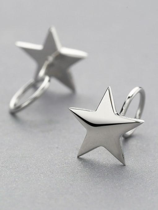 One Silver Women Star Shaped Silver stud Earring 2