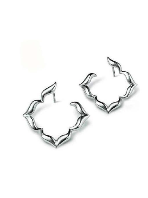 White 925 Silver Geometric Shaped Earrings