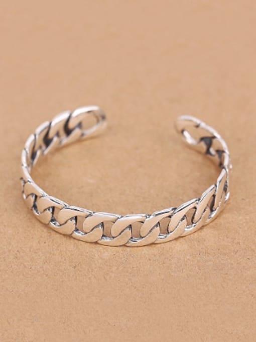 Peng Yuan Personalized Chain Opening Silver bangle