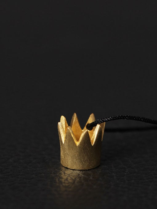 SILVER MI Creative Queen Small Crown Necklace 0