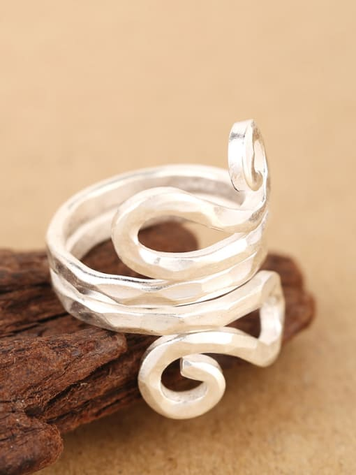 Peng Yuan Personalized Two-layer Handmade Silver Ring 2