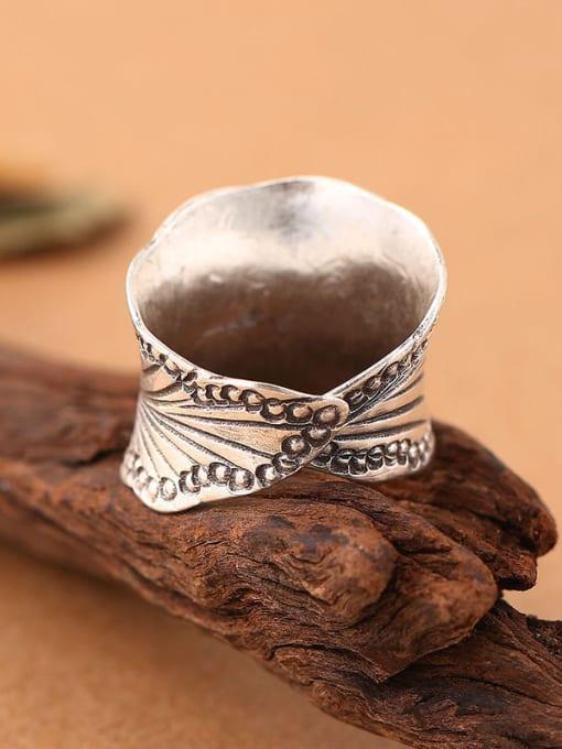 Peng Yuan Retro style Thai Silver Ring 2