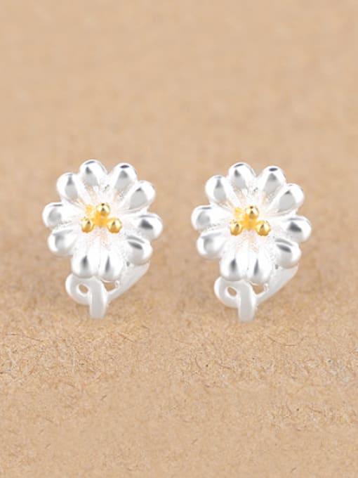 Peng Yuan Fashion Flower Silver stud Earring 0