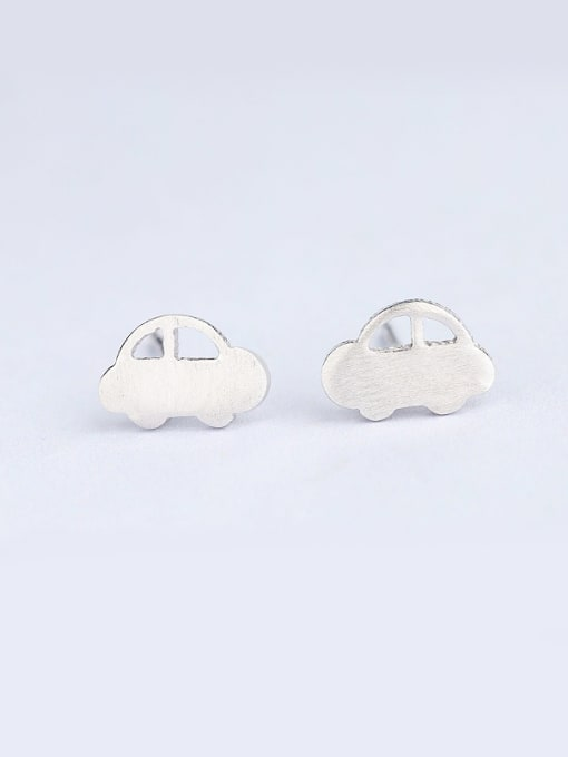 One Silver Temperament Car Shaped Stud Earrings