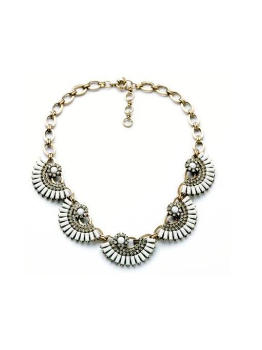 KM Luxury Fan-shape Women Necklace 1