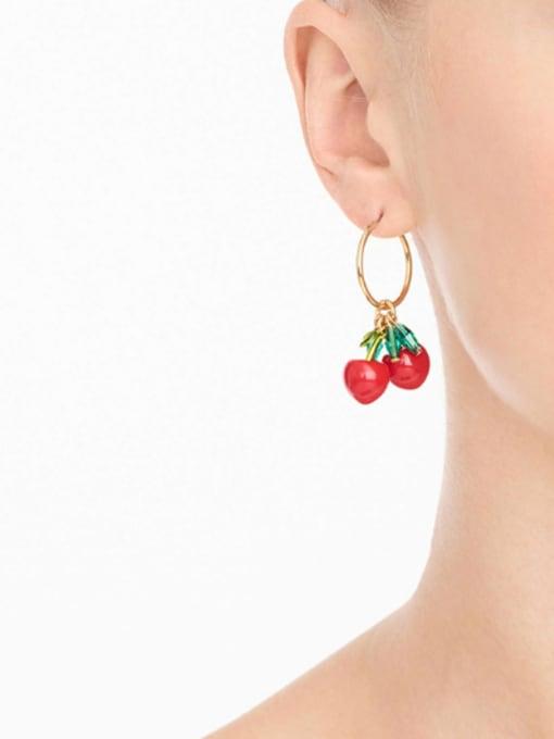 KM Western Style Cherry Women drop earring 1