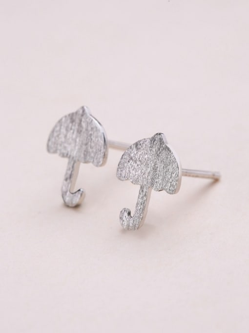 One Silver 925 Silver Mushroom Shaped stud Earring 2