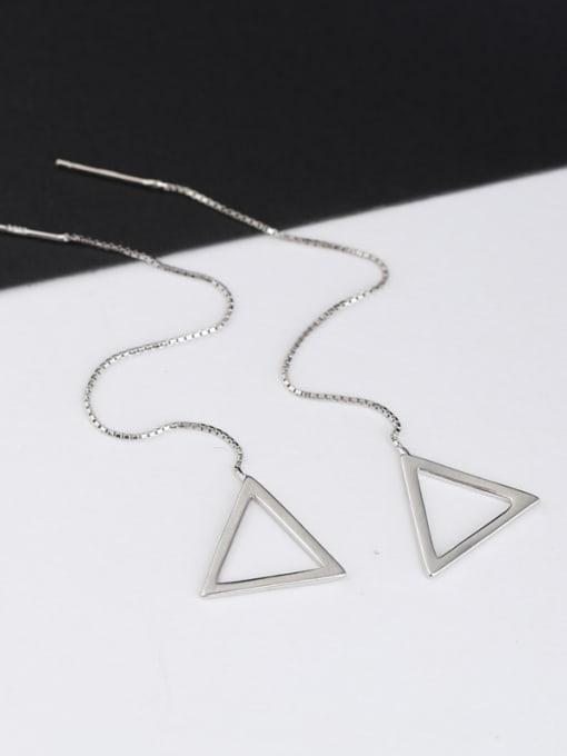 Peng Yuan Simple Hollow Triangle Line Earrings 0