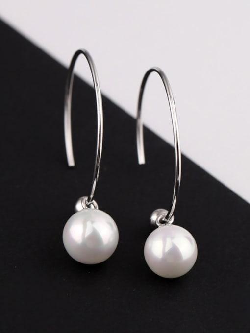 Peng Yuan Freshwater Pearl Round Silver Earrings 0