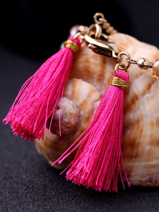 KM Colorful Tassel Women Alloy Bracelet 1