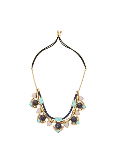 KM Exaggerate Natural Stones Women Necklace