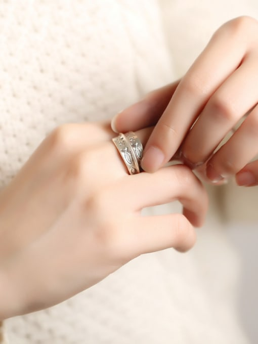 Peng Yuan Personalized Little Fishes Opening Handmade Ring 1