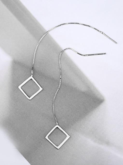Peng Yuan Simple Hollow Square Line Earrings 2