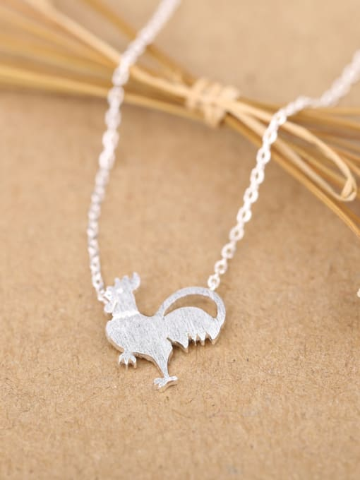 Peng Yuan Personalized Tiny Rooster Silver Necklace 2