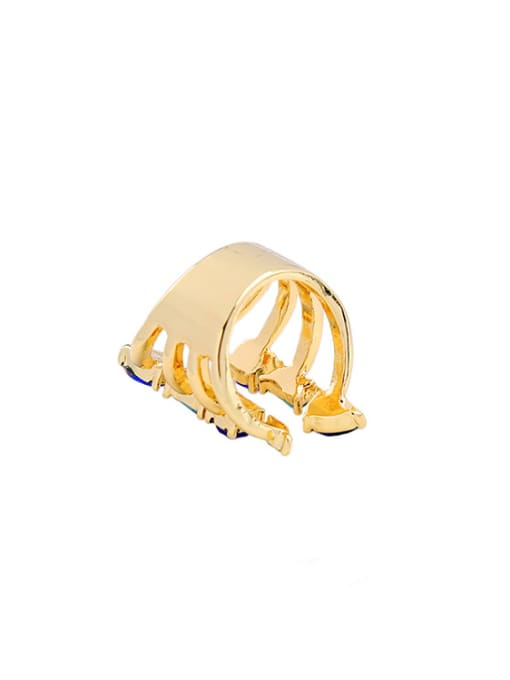 KM Gold Plated Luxury Opening Stacking Ring 2