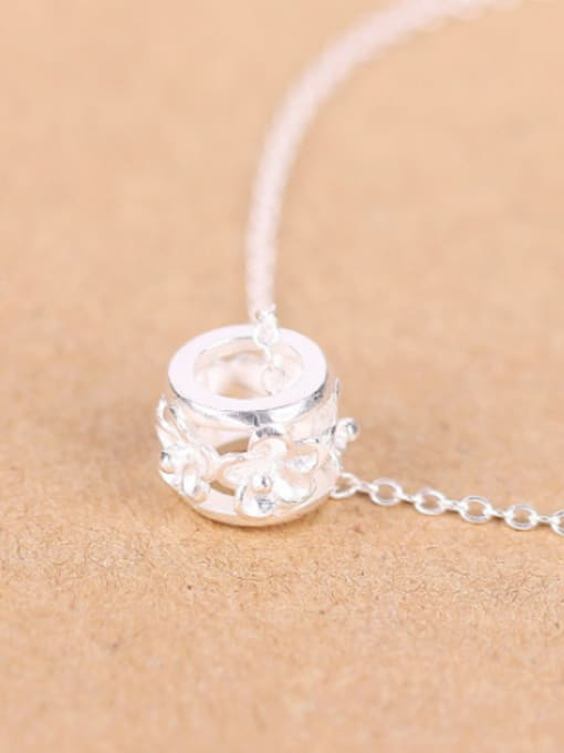 Peng Yuan Fashion Silver Flower Ring Necklace 2
