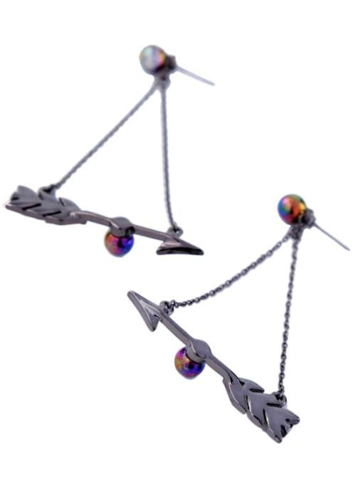 KM Nightclub Accessories Arrow Alloy Drop Chandelier earring 2