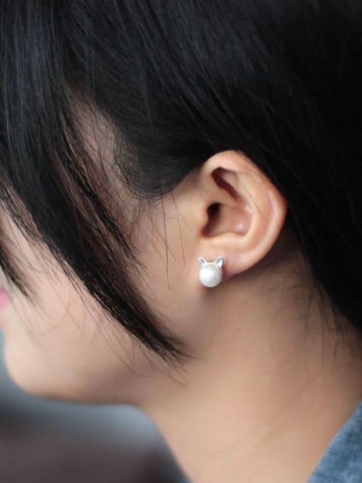 SILVER MI Freshwater Pearls Fashion Stud Earrings 1