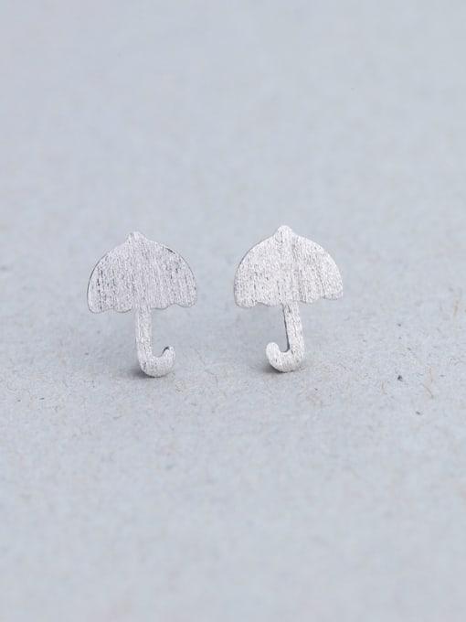 One Silver 925 Silver Mushroom Shaped stud Earring