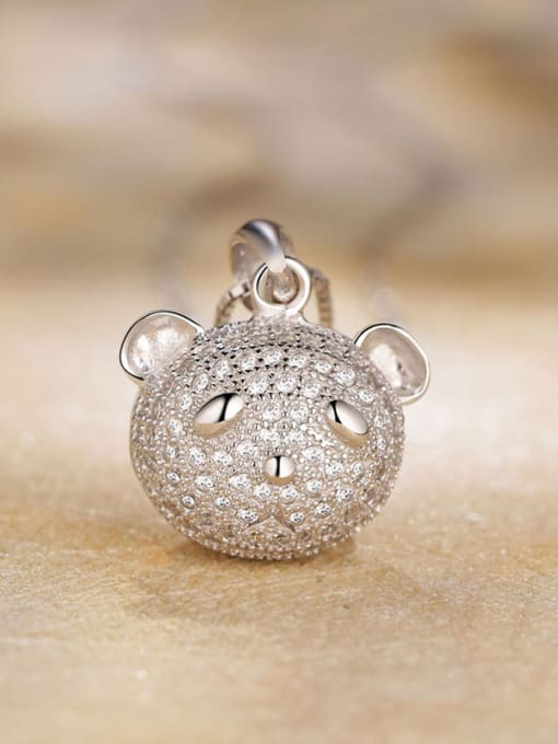 One Silver Lovely 925 Silver Bear Pendant 3