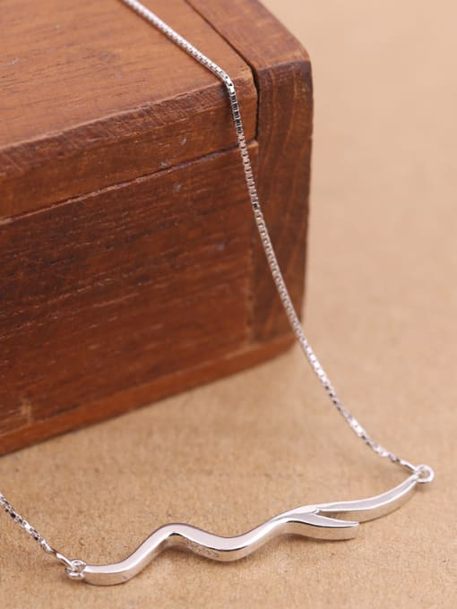 Peng Yuan Fashion Simple Silver Women Necklace 2
