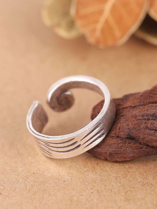 Peng Yuan Thai Ethnic style Handmade Silver Ring 1