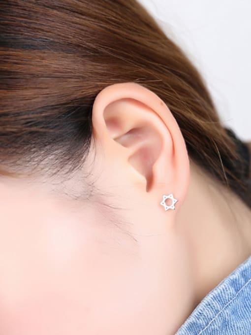 Peng Yuan Hollow Six-pointed Star stud Earring 1