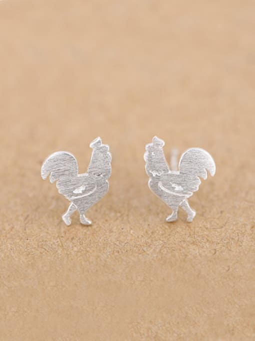 Peng Yuan Tiny Rooster Silver Opening Ring