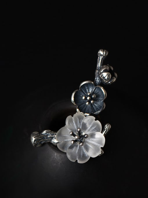 SILVER MI Retro Design Crystal Women Brooch 1