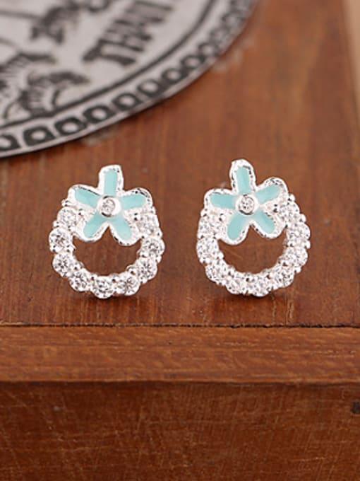 Peng Yuan Fashion Rhinestones Flowery stud Earring 1