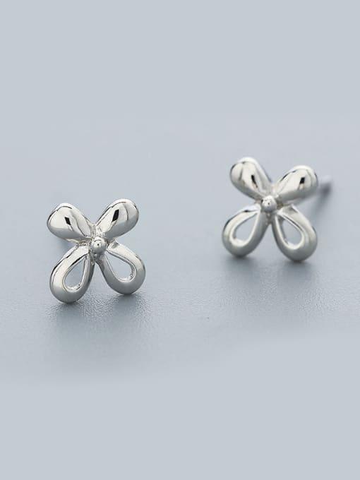 One Silver Women 925 Silver Flower Shaped cuff earring 0