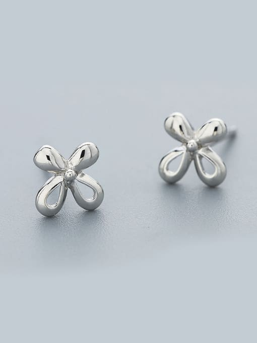 One Silver Women 925 Silver Flower Shaped cuff earring