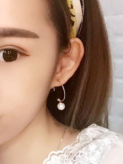 Peng Yuan Freshwater Pearl Round Silver Earrings 2
