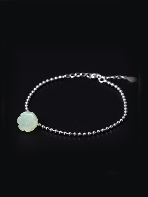 SILVER MI Lotus Aesthetic Creative Temperament Bracelet 0