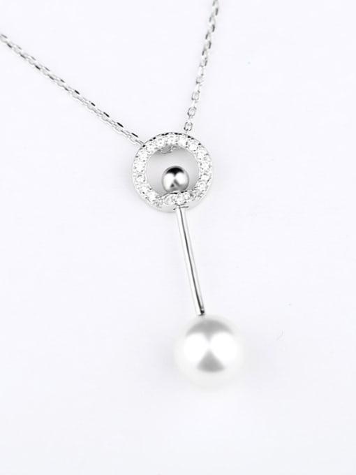 Peng Yuan Fashion Freshwater Pearl Silver Necklace 0