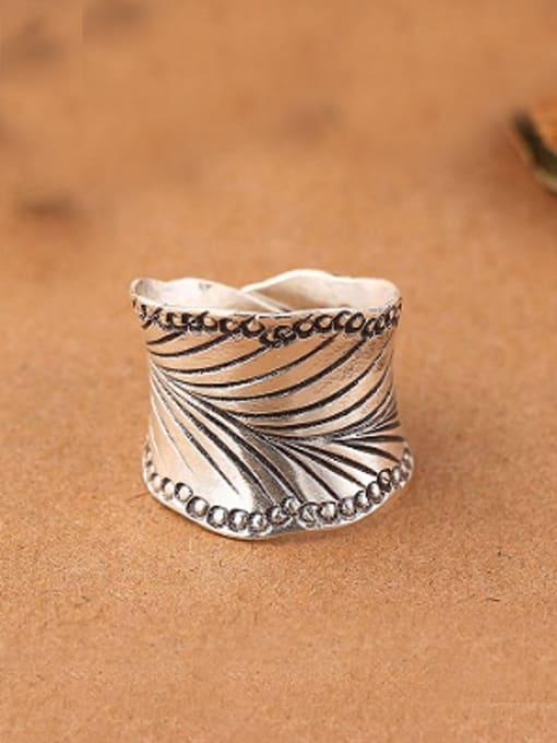 Peng Yuan Retro style Thai Silver Ring 0