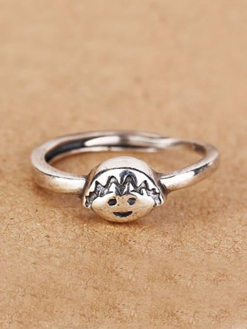 Peng Yuan Personalized Chibi Maruko Silver Ring 0