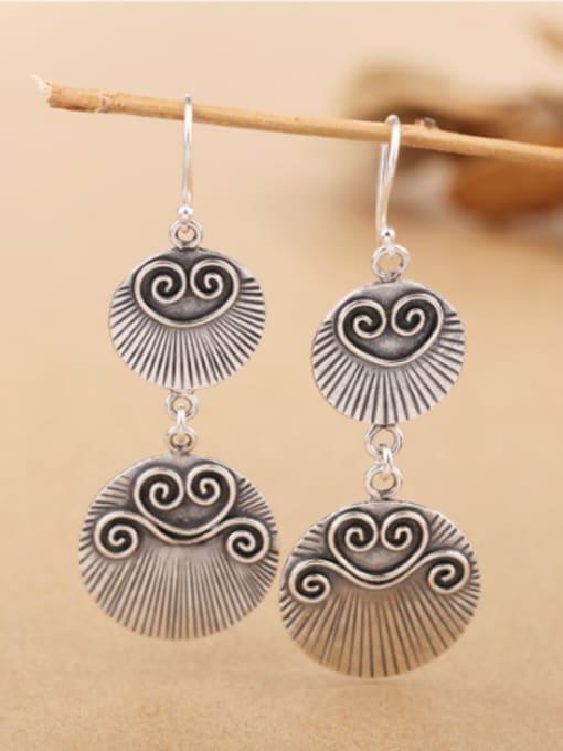 Peng Yuan Retro Silver Handmade Drop hook earring 2