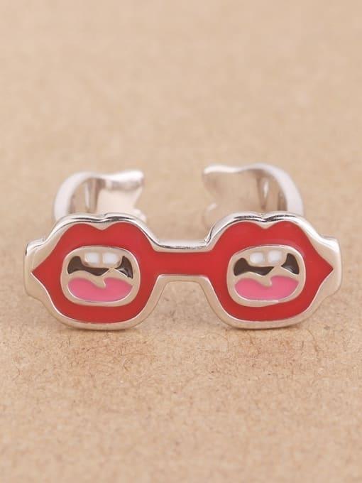 Peng Yuan Creative Mouth Glasses Opening Ring