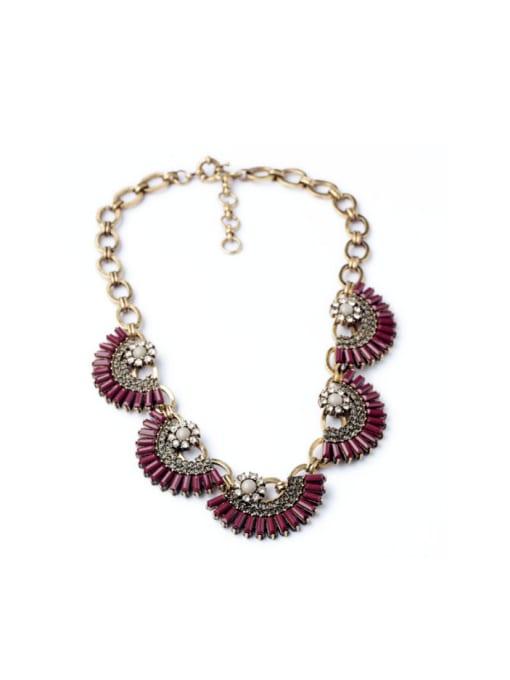 Red Luxury Fan-shape Women Necklace