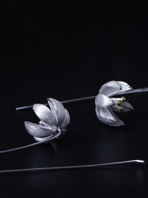 SILVER MI S925 Silver Fashion Women Hook hook earring 2