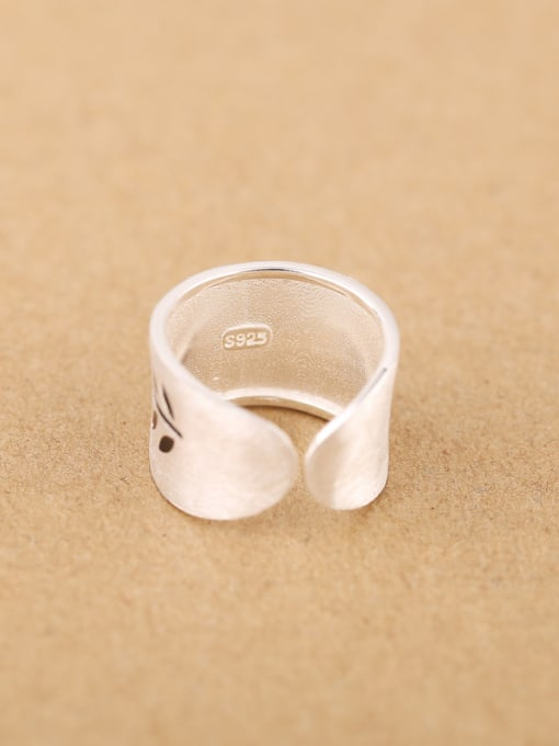 Peng Yuan Personalized Leaves Silver Opening Ring 2