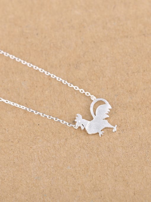 Peng Yuan Personalized Tiny Rooster Silver Necklace 3